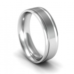 Platinum Wedding Band in Welcombe 5