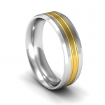 Platinum Wedding Band in Harberton 10