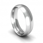 Platinum Wedding Band in Welcombe 11