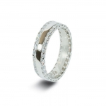 Platinum Wedding Band in Abercraf 6