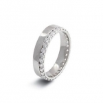 Platinum Wedding Band in Welcombe 9